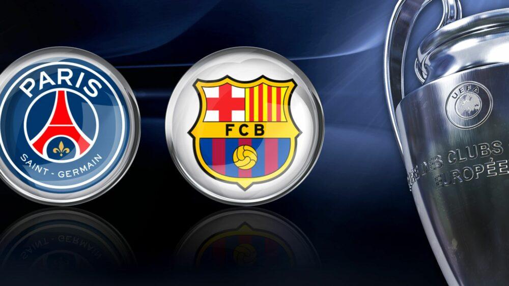 V osmifinále Ligy mistrů nás čeká i atraktivní duel mezi Barcelonou a PSG. Zdroj: skysports.com
