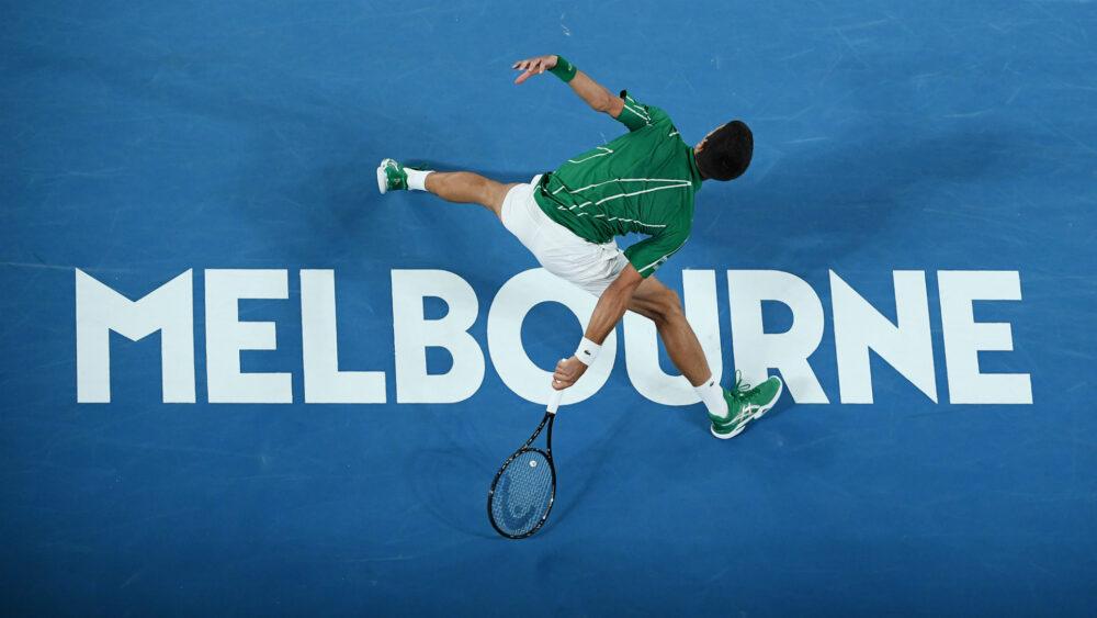 Novak Djokovič na Australian Open. Zdroj: tennismajors.com