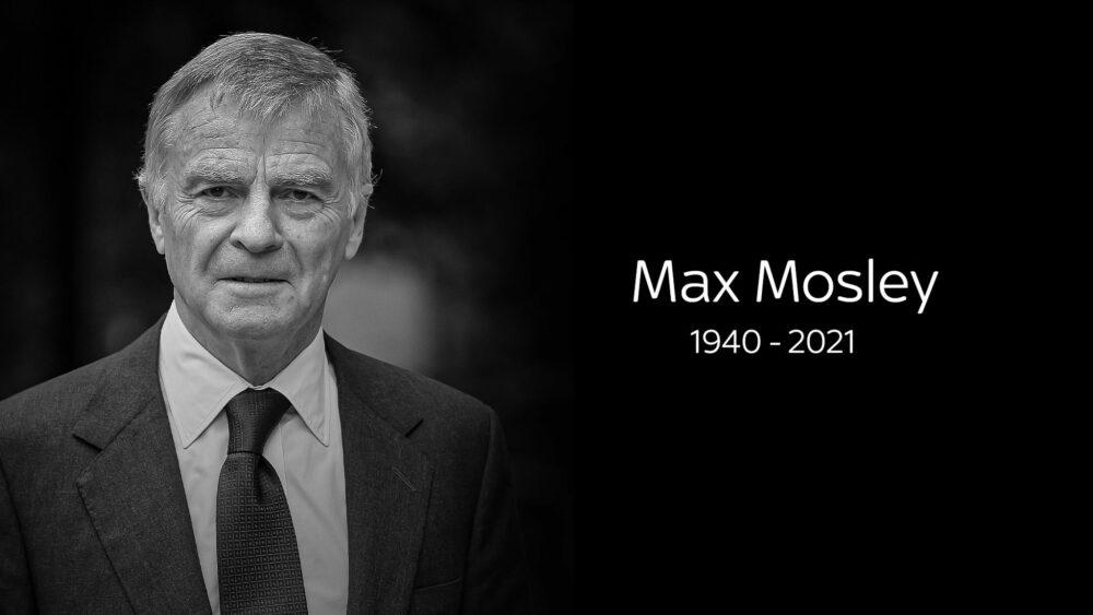 Zemřel bývalý prezident FIA - Max Mosley